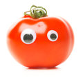 Funny Tomato With Eyes Royalty Free Stock Photo