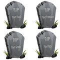 Funny Tombstones Stock Photos