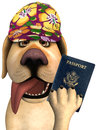 Funny Tourist Travel Passport Dog