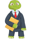 Funny Turtle. Businessman Royalty Free Stock Photo