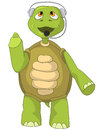 Funny Turtle. Comunication. Stock Photography