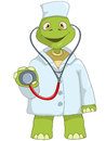 Funny Turtle. Doctor. Royalty Free Stock Photos