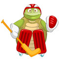 Funny Turtle. Hockey Goalie. Royalty Free Stock Photos
