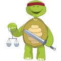 Funny Turtle. Law. Royalty Free Stock Photos