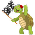 Funny Turtle. Race Finish. Stock Images