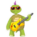 Funny Turtle. Rock Star. Royalty Free Stock Photography
