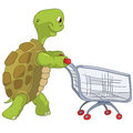 Funny Turtle. Shopping. Stock Photography
