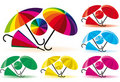 Funny umbrellas Royalty Free Stock Photo