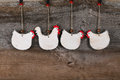 Funny Welcome White Chicken Rooster Country Cottage Kitchen Wood Royalty Free Stock Photo