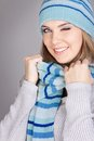 Funny winter girl Royalty Free Stock Photos