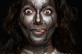 Funny women face Royalty Free Stock Photo