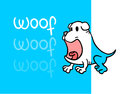 Funny woof card creative design of Stock Image