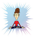 Funny yoga woman meditative pose Stock Photography