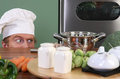 Funny young chef Royalty Free Stock Images