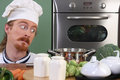 Funny young chef Royalty Free Stock Image