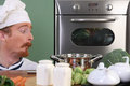 Funny young chef Royalty Free Stock Photos
