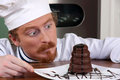 Funny young chef Stock Images