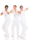 Funny young men group of isolated on white Royalty Free Stock Photo
