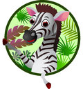 Funny zebra cartoon Royalty Free Stock Photo