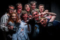 Funny zombie kiev ukraine february people dressed as zombies during role playing game about zombies and walking deads in kiev Stock Photos