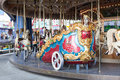 Funpark ride chariot at an amusement park Royalty Free Stock Photos