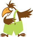 Funy bird symbol. illustration Stock Photography
