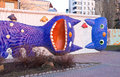 The funy cats kiev ukraine march playground on landscape alley made by konstantin skretutskiy with sculptures of meowing on march Royalty Free Stock Photo