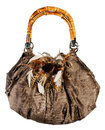 Fur bag isolated Royalty Free Stock Photo