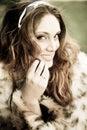 Fur coat Royalty Free Stock Images