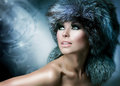 Fur Fashion Hat Royalty Free Stock Photo