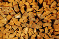Fur-tree fire wood in a woodpile Stock Image