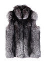 Fur vest izolated on white background Royalty Free Stock Photos