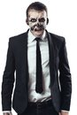 Furious businessman makeup skeleton with Stock Photography
