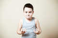 Furious kid Royalty Free Stock Photo