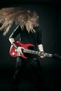Furious metal guitarist Royalty Free Stock Image