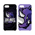 Furious rhino sport vector logo concept smart phone case isolated on white background