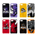 Furious rhino, wolf, bull and panther sport vector logo concept smart phone case.