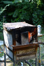 Furnace a big working in a garden outside Royalty Free Stock Images