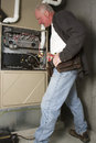 Furnace Repair Royalty Free Stock Photo