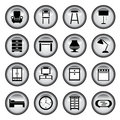 Furniture buttons Stock Photography