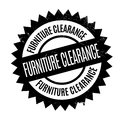 Furniture Clearance rubber stamp
