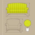 Furniture design Royalty Free Stock Photos