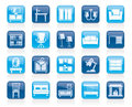 Furniture and home equipment icons Royalty Free Stock Photo