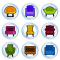 Furniture icon Stock Photos