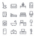Furniture icon bold stroke on white background vector illustration Stock Photo