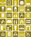 Furniture icons Royalty Free Stock Image