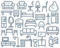 Furniture icons set Stock Images