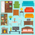 Furniture icons vector illustration outline modern closet bedroom silhouette