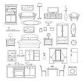 Furniture Items Line Set