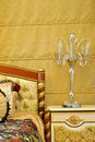 Furniture lamp and bedding Royalty Free Stock Photo